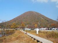 紅葉が見事な榛名富士